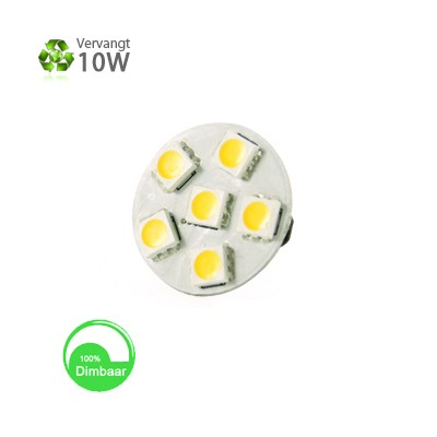 G4 LED 1,2w warm wit 10-30v dimbaar backpin