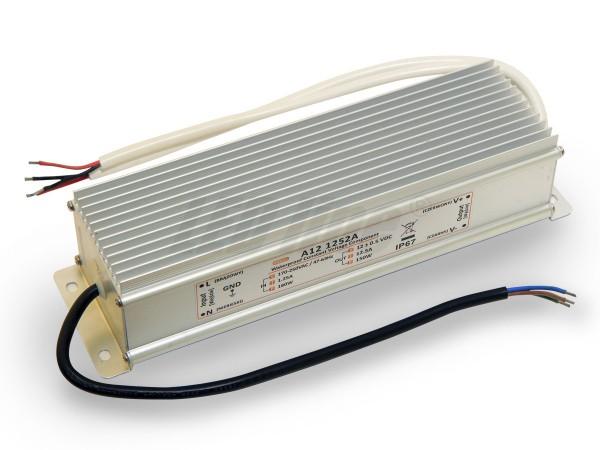 LED trafo 150 watt 12VDC 12,5A IP67