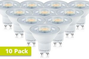 10x Integral GU10 LED spot 4,7 watt 2700K extra warm wit