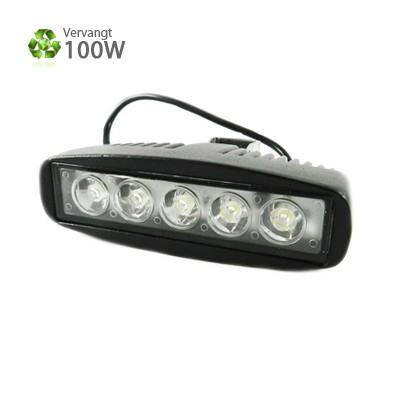 LED schijnwerper 15 watt 10 - 30V accu aansluiting 6500K IP67