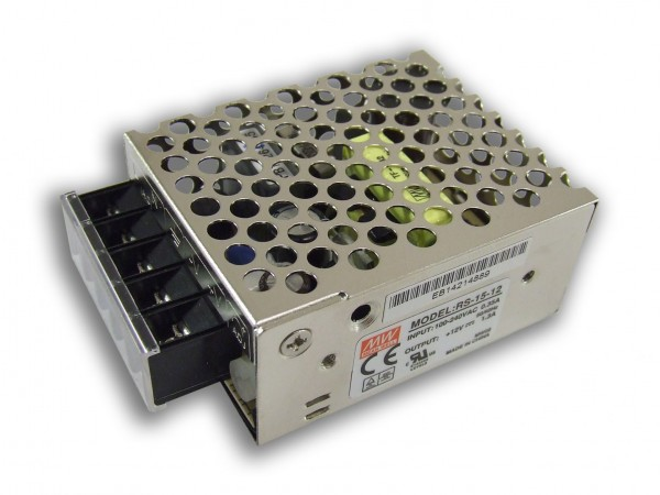 Mean Well LED trafo 15 watt 12VDC 1,25A IP20