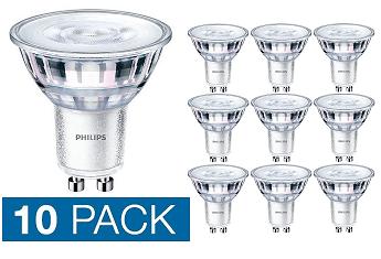 10x Philips Corepro GU10 LED spot 3,5 watt neutraal wit 4000K