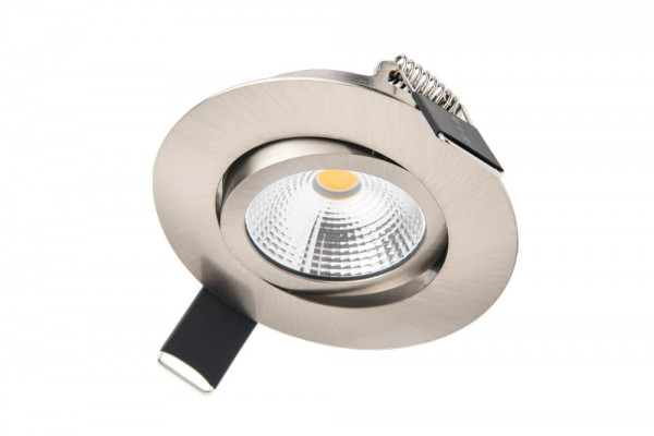 Integral LED kantelbare inbouw spot 6,5 watt 3000K warm wit dimbaar RVS