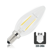 Integral LED filament kaarslamp 2,8W 2700K extra warm wit E14