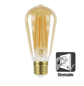 Integral ST64 LED lamp retro 5 watt flame 1800K dimbaar