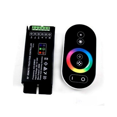 RGB-Controller Touchwheel Zwart 12V/24V