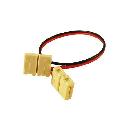 LED-strip Connector 12mm tweezijdig snoer