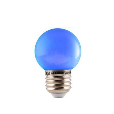 LED Kleuren Kogellamp Blauw Grote Fitting 1W