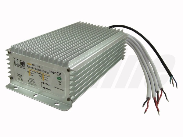LED trafo 200 watt 12VDC 16,7A IP67