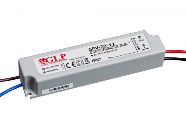 GLP LED Trafo 24 watt 12VDC 2A IP67