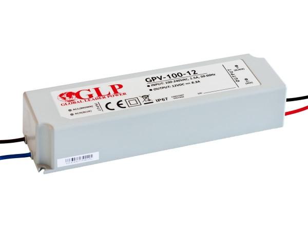 GLP LED Trafo 100 watt 12VDC 8,3A IP67