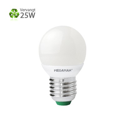 Megaman LED kogellamp E27 Warm wit 3,5W