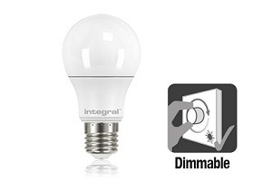 Integral E27 LED lamp 5,5 watt extra warm wit 2700K dimbaar frosted