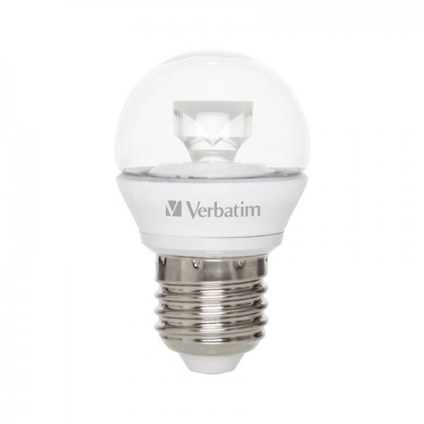 Verbatim LED Kogellamp E27 warm wit 4,5W