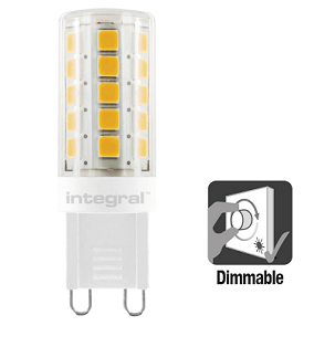 Integral G9 LED 3 watt extra warm wit 2700K dimbaar