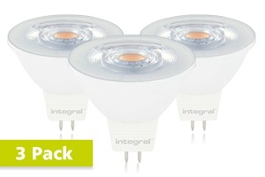 3x Integral GU5.3 LED spot 4,5 watt neutraal wit