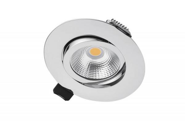 Integral LED kantelbare inbouw spot 6,5 watt 3000K warm wit dimbaar chroom
