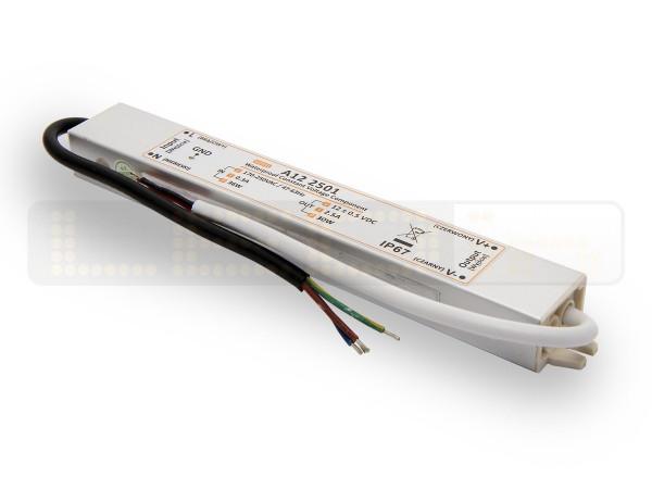 LED trafo 30 watt 12VDC 2,5A IP67