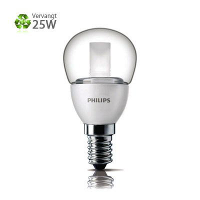 Philips LED Kogel E14 Kleine Fitting 4W