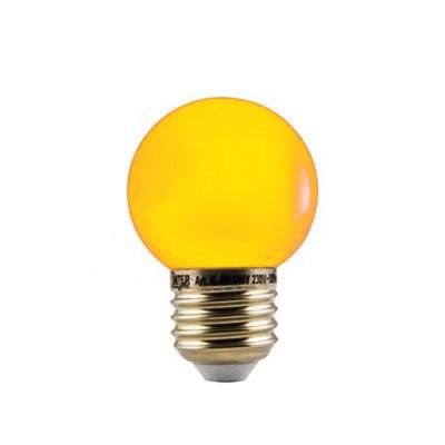 LED Kleuren Kogellamp Geel Grote Fitting 1W