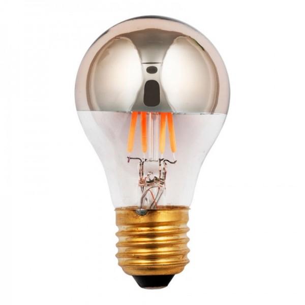 SPL E27 LED lamp 3,5 watt Flame dimbaar kopspiegel goud