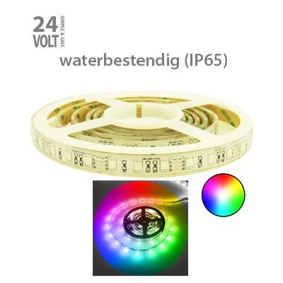 LED-strip 24V RGB IP65 30x5050 (sterk)