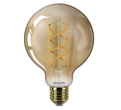 Philips G93 LED globe retro 5 watt flame 2000K