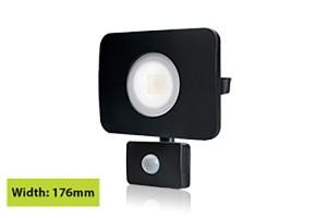 LED schijnwerper 30W 4000K en sensor IP64 zwart