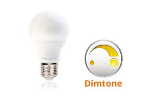 Integral E27 LED lamp 9,5 watt 1800K - 2700K dimtone frosted