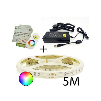Plug-and-Play LED-strip RGB 5m