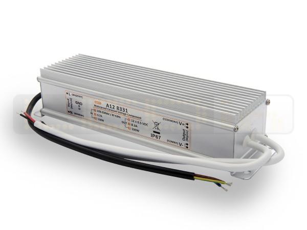 LED trafo 100 watt 12VDC 8,33A IP67