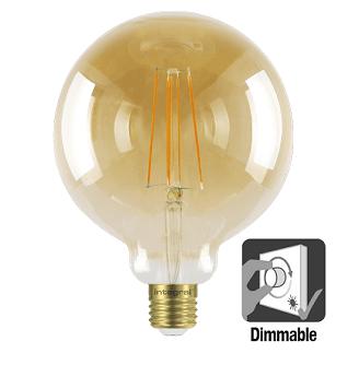Integral G125 LED Globe retro 5 watt flame 1800K dimbaar