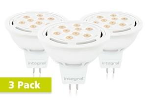 3x Integral GU5.3 LED spot 8 watt warm wit