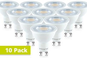 10x Integral GU10 LED spot 7 watt neutraal wit 4000K dimbaar