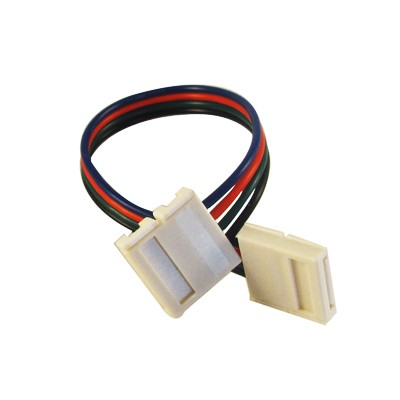 RGB LED-strip Connector 12mm dubbelzijdig snoer