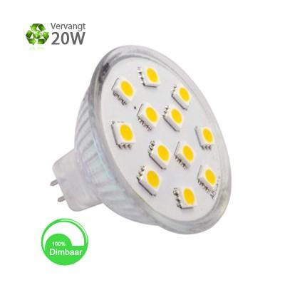 LED spot GU5.3 Warmwit 2,5W 10-30V Dimbaar