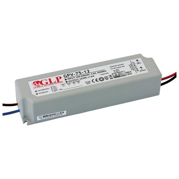 GLP LED Trafo 72 watt 12VDC 6A IP67