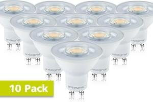 10x Integral GU10 LED spot 5,5 watt daglicht wit 6500K dimbaar