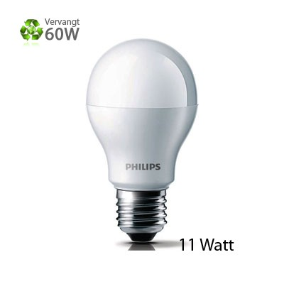 Philips LED-lamp E27 Grote Fitting 11W
