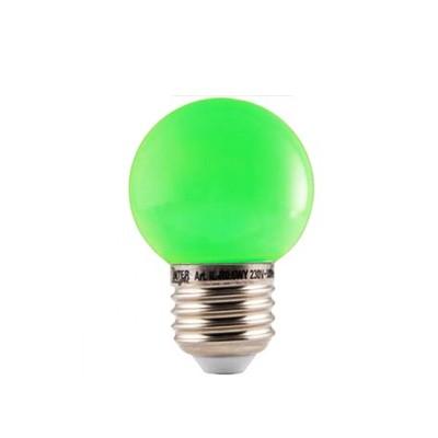 LED Kleuren Kogellamp Groen Grote Fitting 1W
