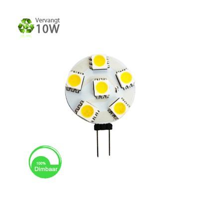 G4 LED 1,2w daglicht wit 10-30v dimbaar