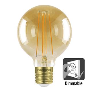 Integral G80 LED Globe retro 5 watt flame 1800K dimbaar