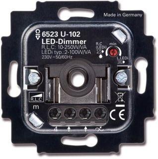 Busch-Jaeger inbouw LED draaidimmer 2 - 100 watt 6523 U-102