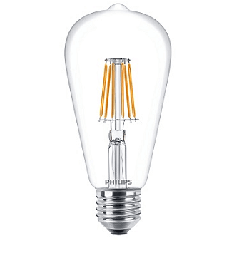Philips ST64 LED lamp retro 7,5 watt 2700K extra warm wit