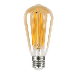 Integral ST64 LED lamp retro 2,5W flame 1800K