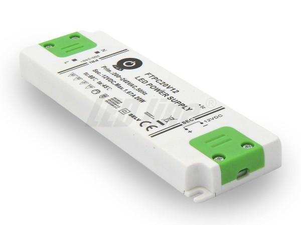 Inbouw LED trafo 20 watt 12VDC 1,6A IP20