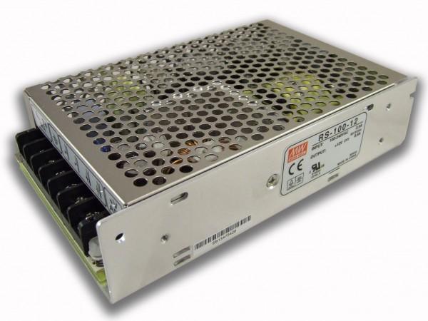 Mean Well LED trafo 100 watt 12VDC 8,5A IP20