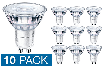10x Philips Corepro GU10 LED spot 4,6 watt warm wit 3000K