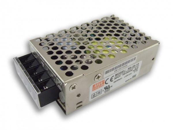 Mean Well LED trafo 25 watt 12VDC 2,1A IP20