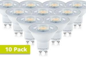 10x Integral GU10 LED spot 5,5 watt neutraal wit 4000K dimbaar